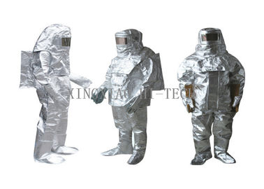 kualitas baik Fabrikasi Fiberglass tahan api & High Temperature Aluminized Fire Proximity Protective Clothing Suit Thermal Insulation Dijual